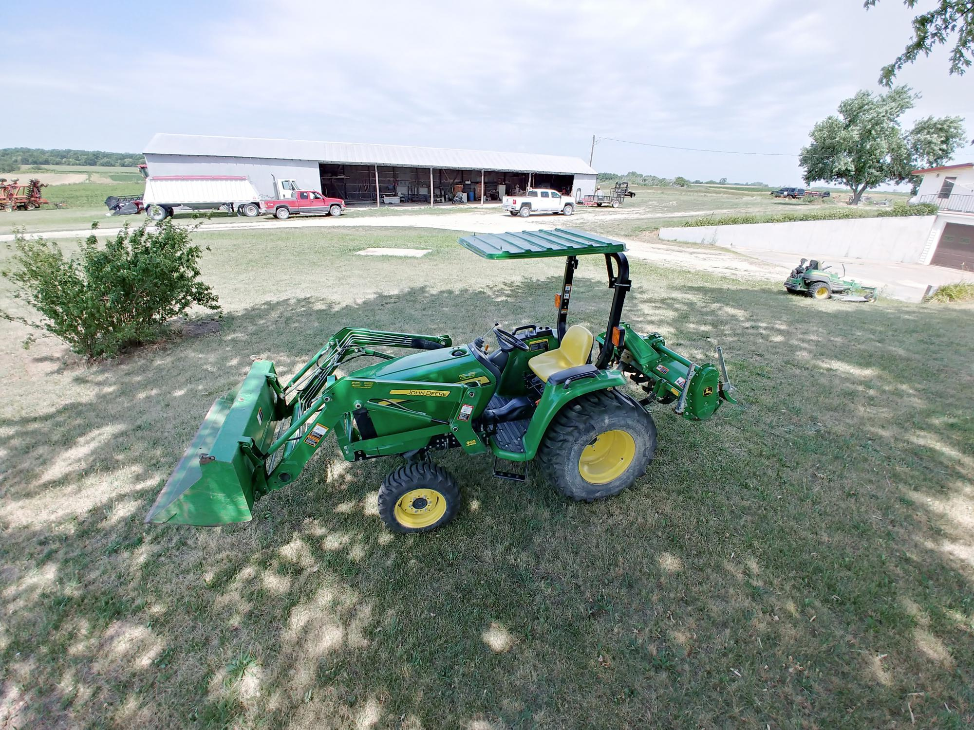 John Deere Tractor with SunGuard Tractor Canopy Installed
