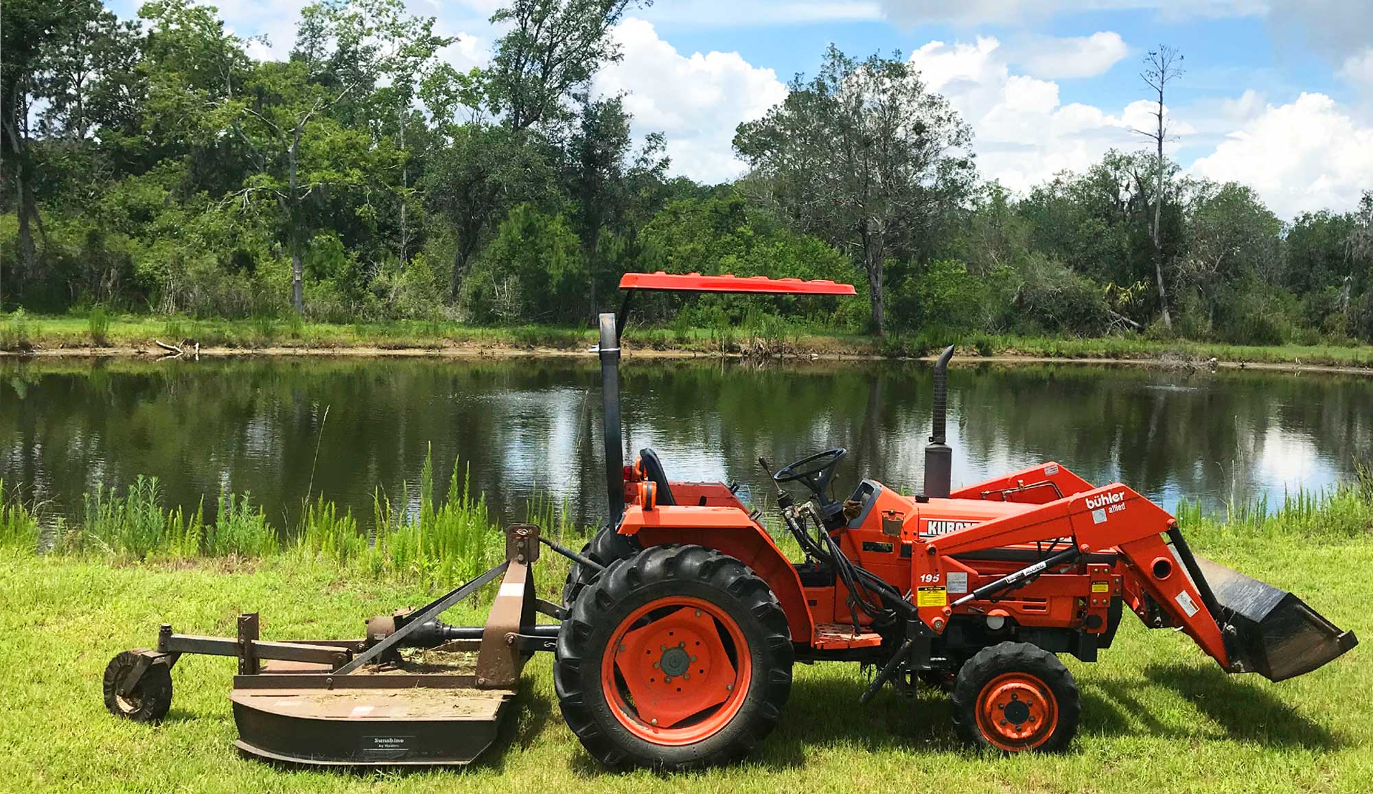 Tractor canopies and mower canopies  by SunGuard USA are cooler and protect you from the sun.